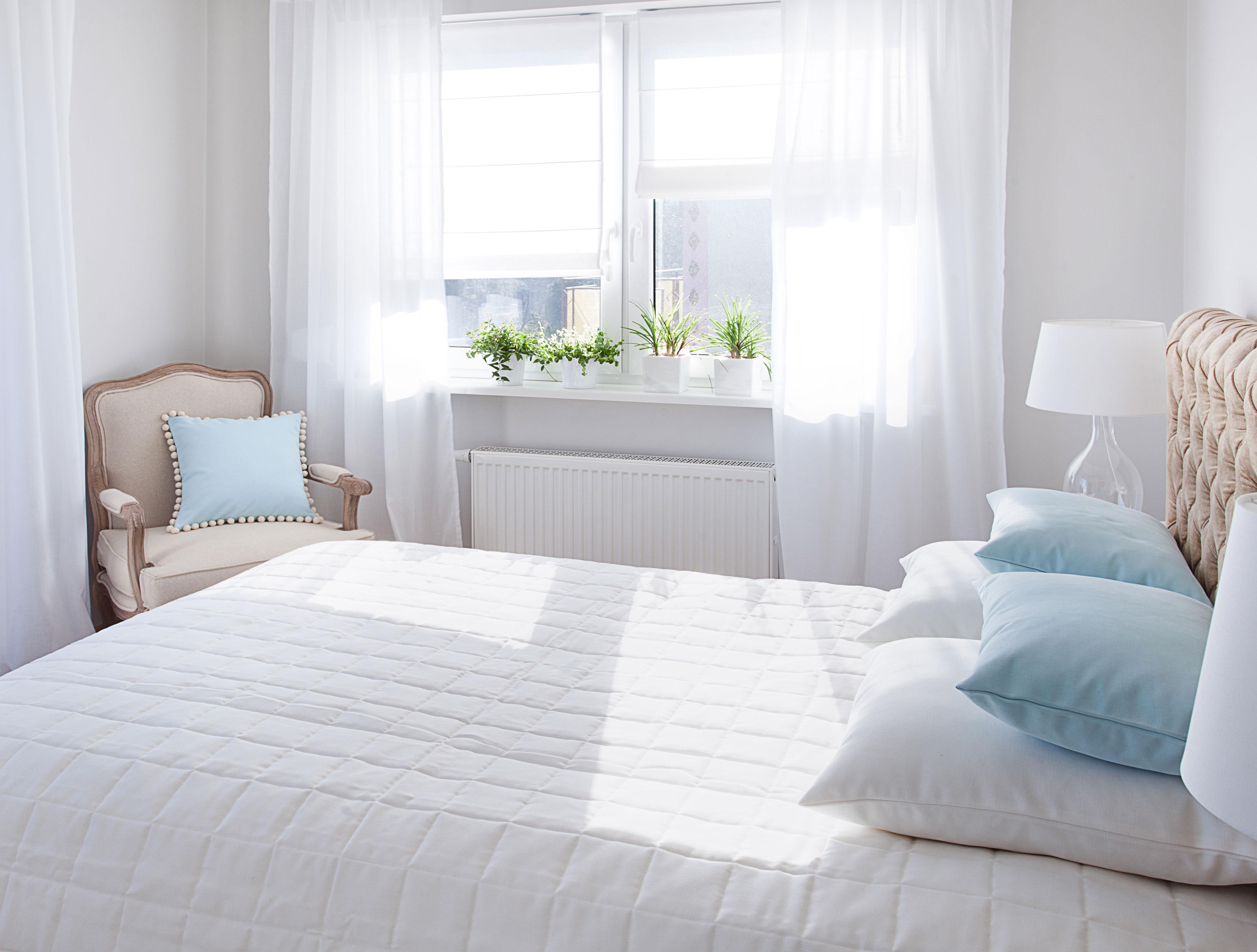 White Living Schlafzimmer
