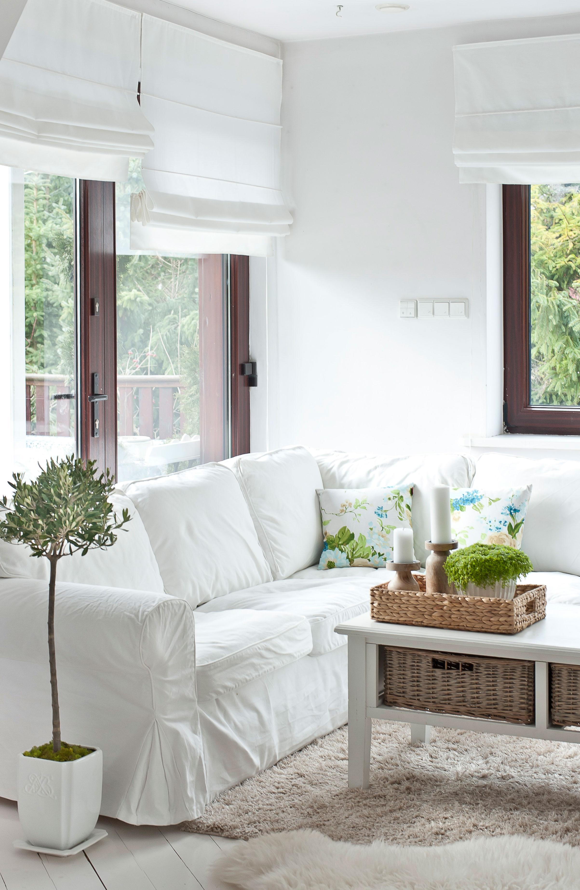 Weisse beüge für Ikea-Sofas