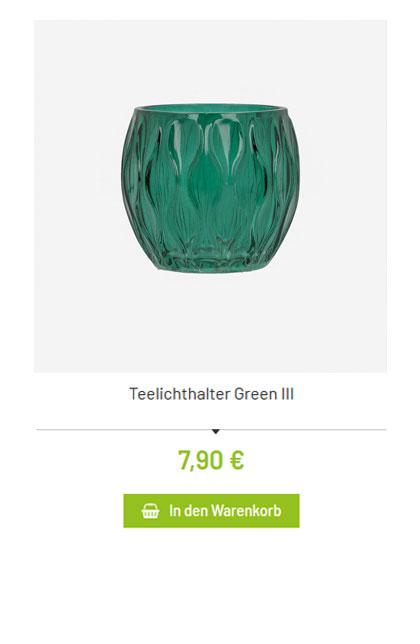 teelichthalter gruen