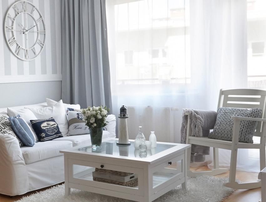 Wohnzimmer im Hampton- Stil