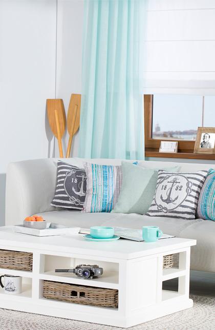 Strandhausstil, Zimmer im maritimen Stil